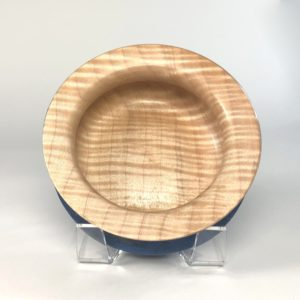 Top view of Tiger Maple Turned Vessel